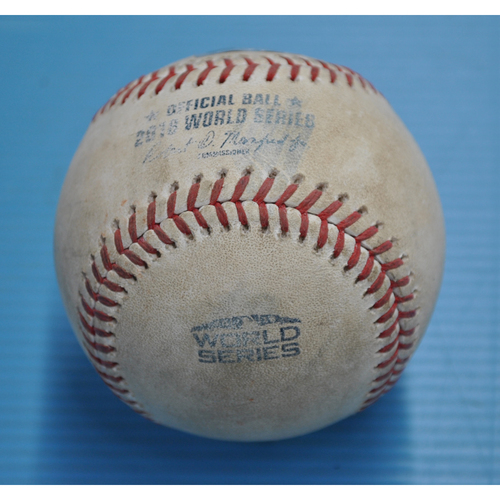 Photo of Game-Used Baseball - 2018 World Series - Los Angeles Dodgers at Boston Red Sox - Baseball used During the Third Inning - Game 1 - 10/23/2018