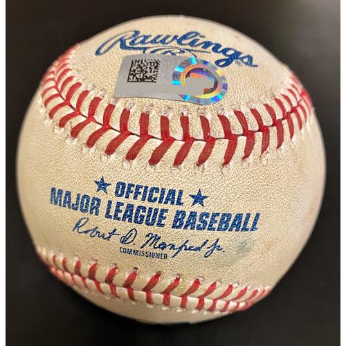 Photo of Jonathon Schoop Detroit Tigers Home Run Baseball (MLB AUTHENTICATED)