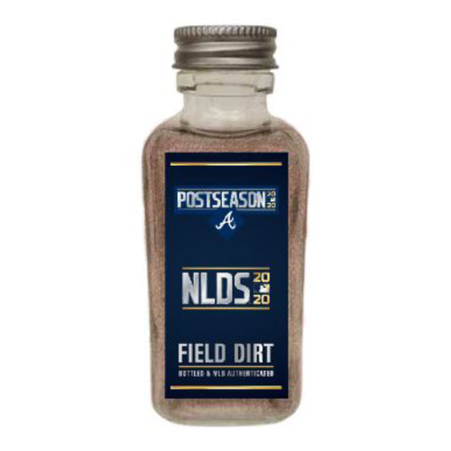 Photo of Game-Used Dirt Jar - 2020 NLDS - Atlanta Braves v. Miami Marlins - Game 3 - Braves Clinch Spot in the NLCS
