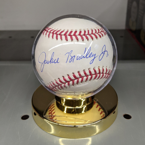 Photo of Jackie Bradley Jr. Autographed Baseball