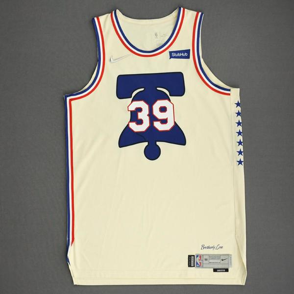 Image of Dwight Howard - Philadelphia 76ers - Game-Worn Earned Edition Jersey - 2020-21 NBA Season