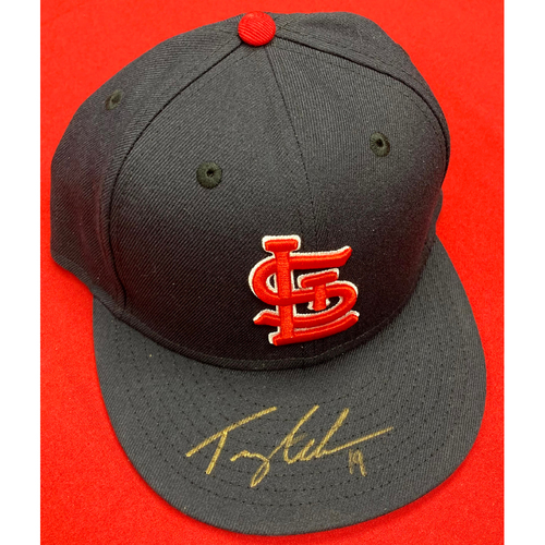 Photo of Tommy Edman Autographed Team Issued Road Cap (Size 7 3/8)