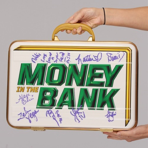 Photo of SIGNED WWE Money In The Bank White Commemorative Briefcase(All 8 Superstars)