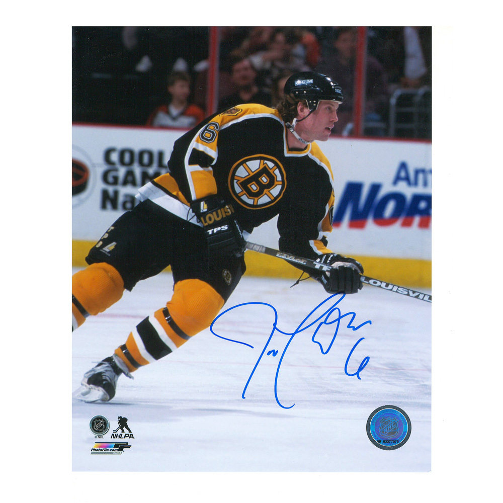 JOE THORNTON Signed Boston Bruins Rookie Year 8 X 10 Photo - 70388