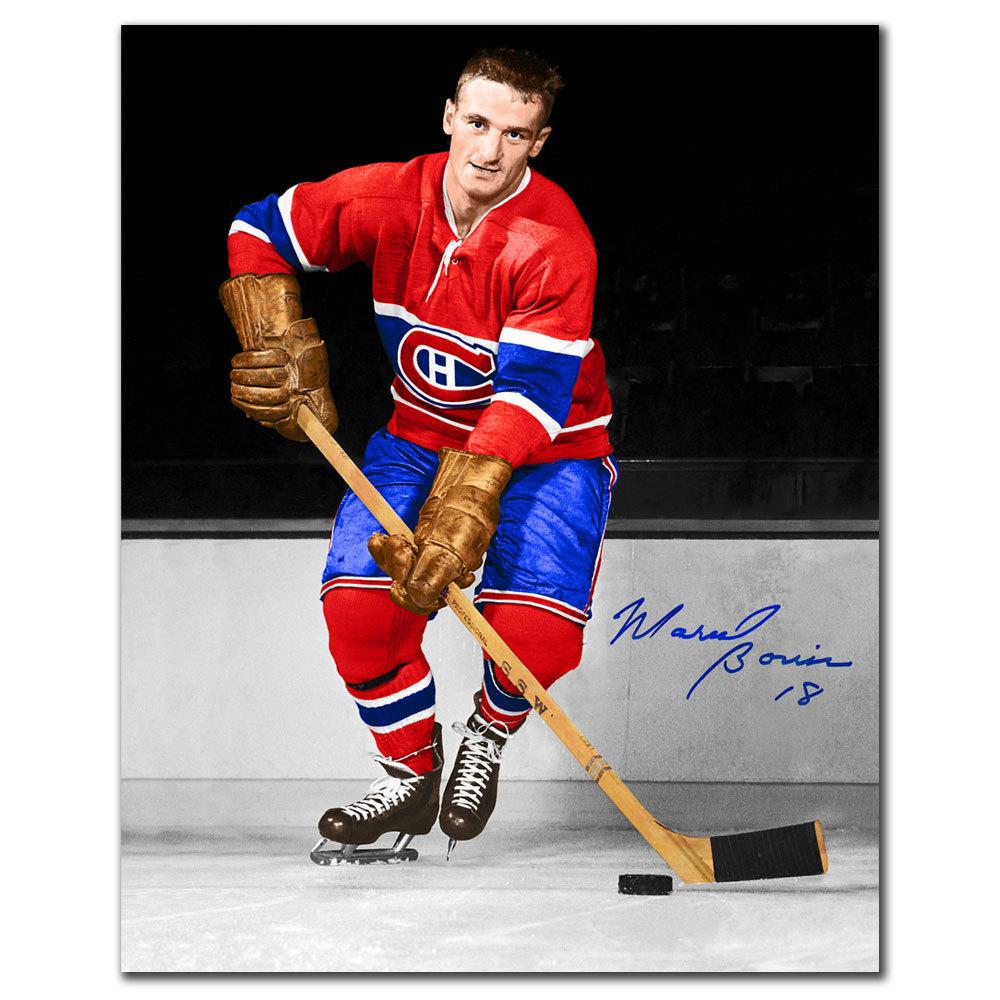 Marcel Bonin Montreal Canadiens Autographed 8x10