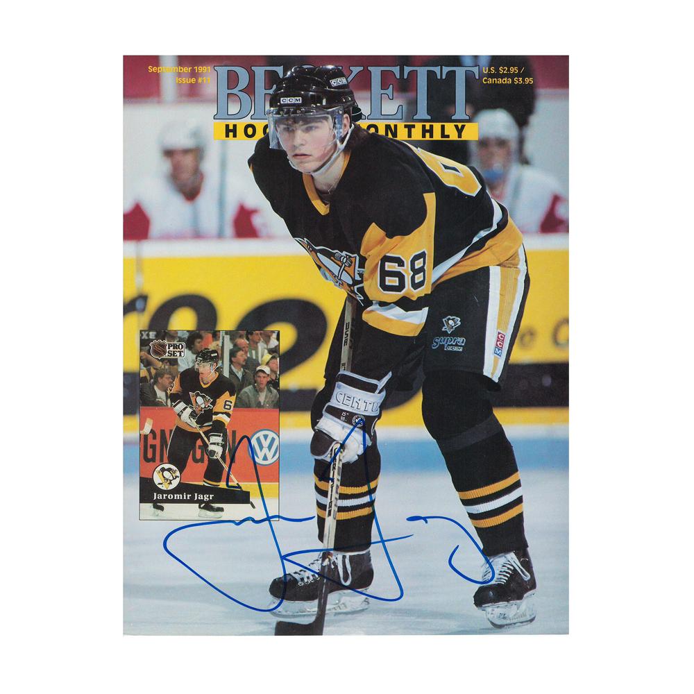 JAROMIR JAGR Signed Beckett Magazine September 1991 Issue #11 - Pittsburgh Penguins