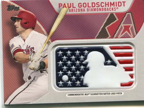 Photo of 2017 Topps Independence Day MLB Logo Patch #IDMLPG Paul Goldschmidt