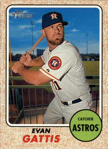 Photo of 2017 Topps Heritage #321 Evan Gattis