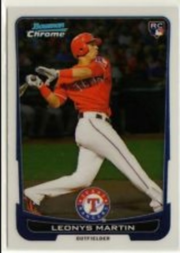 Photo of 2012 Bowman Chrome Draft #38 Leonys Martin Rookie Card