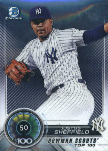 Photo of 2018 Bowman Chrome Scouts Top 100 #BTP50 Justus Sheffield