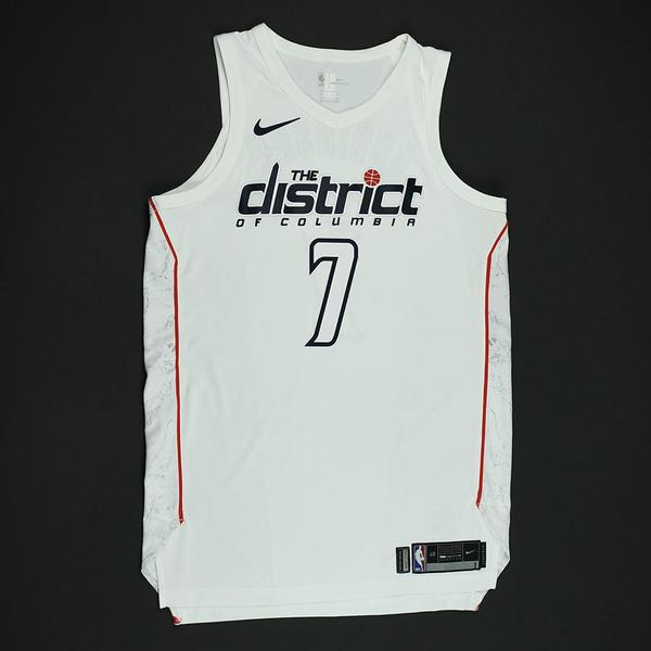 Devin Robinson - Washington Wizards - 2018 NBA Playoffs Game-Issued  City   Jersey 6902d54a6