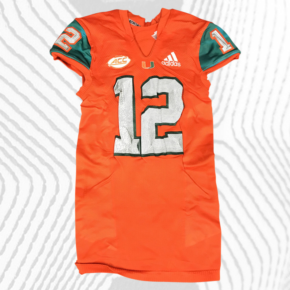 buy popular d6c93 0cda2 Miami Hurricanes Game-Worn Advocare Classic 2018 adidas x ...