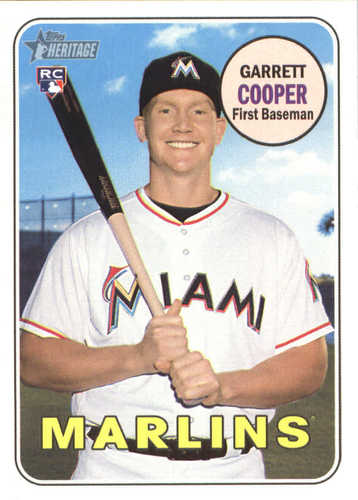 Photo of 2018 Topps Heritage #563 Garrett Cooper RC