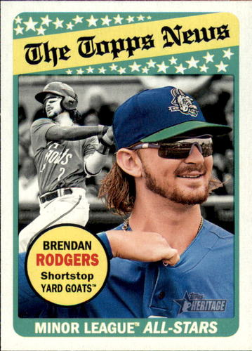 Photo of 2018 Topps Heritage Minors #184 Brendan Rodgers AS