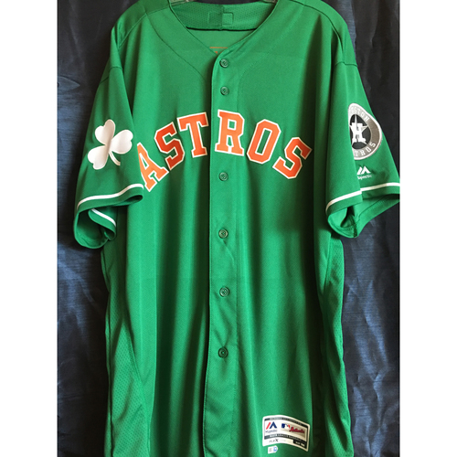 Photo of Forrest Whitley #68 2019 Team-Issued Green St. Patrick's Day Jersey