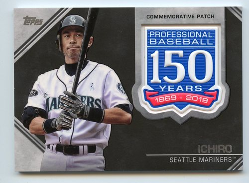 Photo of 2019 Topps 150th Anniversary Manufactured Patches #AMPI Ichiro S2