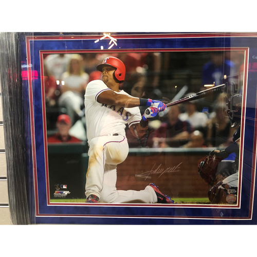 Photo of Adrian Beltre Swinging From The Knee, Front View - Autographed 16x20 Photo