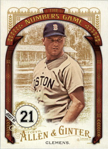 Photo of 2016 Topps Allen and Ginter The Numbers Game #NG43 Roger Clemens