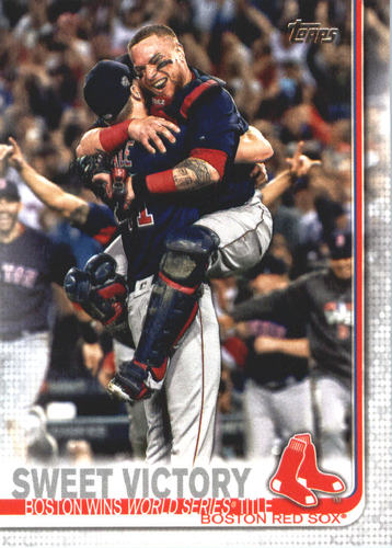 Photo of 2019 Topps #549 Sweet Victory/Chris Sale/ChristianVazquez
