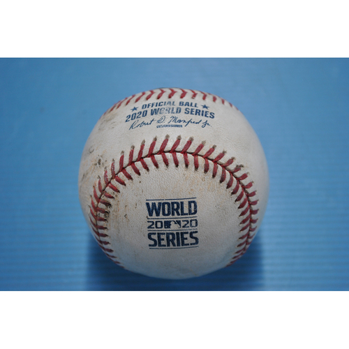 Photo of Game-Used Baseball - 2020 World Series - Tampa Bay Rays vs. Los Angeles Dodgers - Game 2 - Pitcher: Blake Snell, Batter: Max Muncy (2-1 Count) - Bot 2