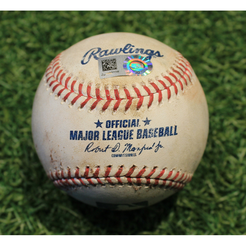 Photo of Game-Used Baseball: Franmil Reyes 36th Career Double (CLE @ KC 9/1/20)
