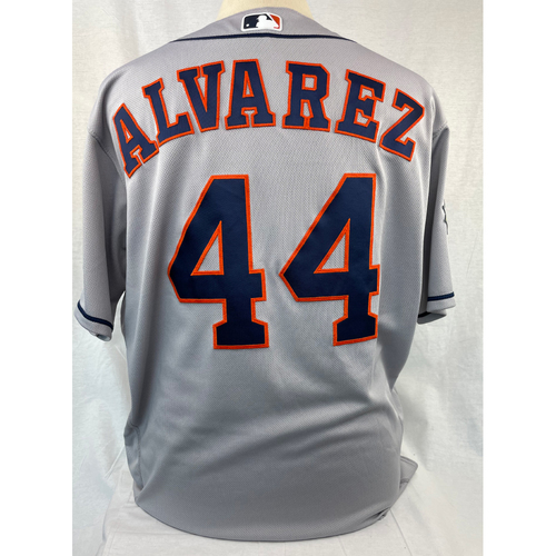 Yordan Alvarez 2019 World Series Game Used Jersey - Game 3 & 4