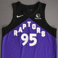 DeAndre' Bembry - Toronto Raptors - Game-Worn Earned Edition Jersey - Dressed, Did Not Play (DNP) - 2020-21 NBA Season