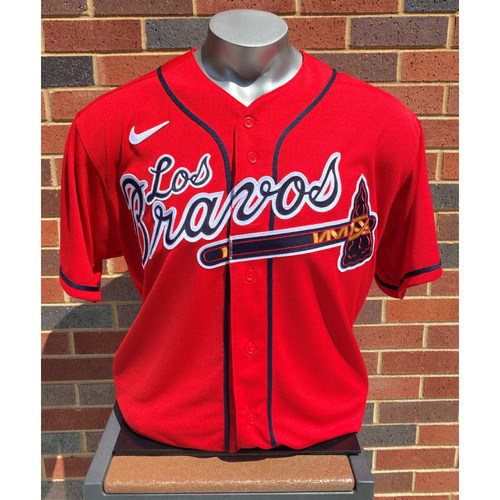 Photo of Josh Tomlin MLB Authenticated Team-Issued Los Bravos Jersey