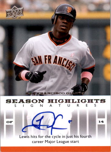 Photo of 2008 Upper Deck Season Highlights Signatures #FL Fred Lewis