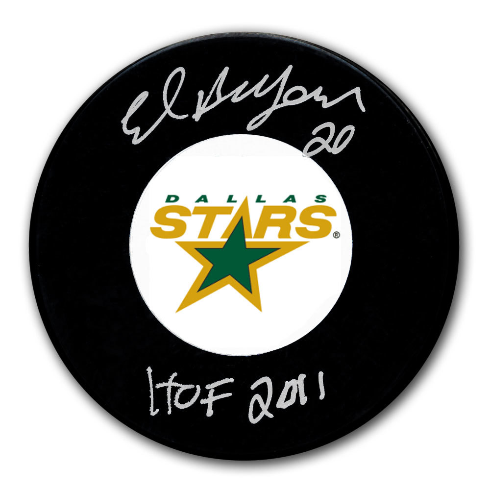 Ed Belfour Dallas Stars 1999 Stanley Cup Champions Autographed Puck