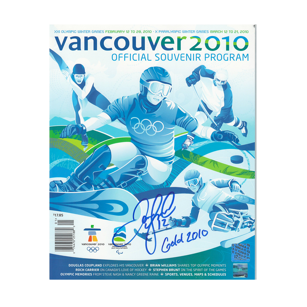 JAROME IGINLA Signed Vancouver 2010 Winter Olympics Official Souvenir Program March 12-21, 2010 with
