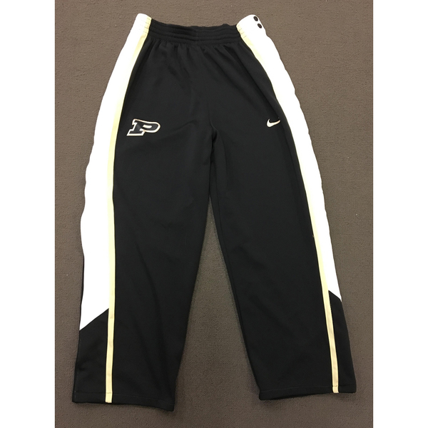 Photo of Purdue Sweat Pants Black Nike Button Down with White and Gold Side Stripe Size L Length +2