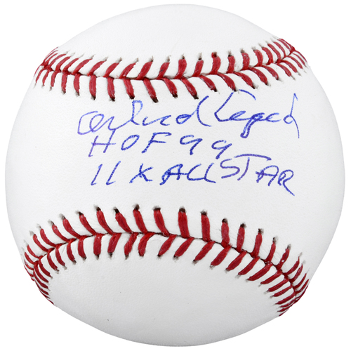 Photo of Orlando Cepeda San Francisco Giants Autographed Baseball with HOF 1990, 11 x All-Star Inscription
