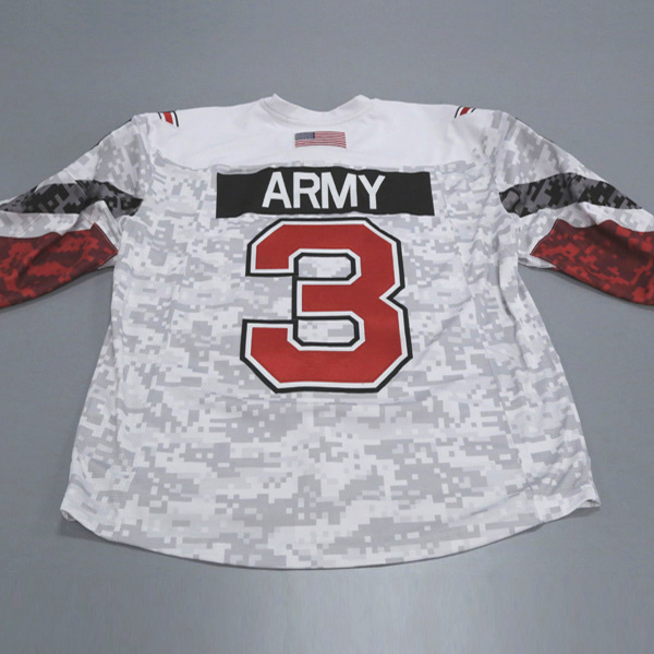 "Photo of Ohio State Ice Hockey Military Appreciation Jersey #3 ""Army"" / Size 56"