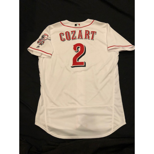 Photo of Zack Cozart - Game-Used Jersey - Final 4-Hit Game as a Red, Tying a Single-Game Career High; Fell Triple Shy of Cycle