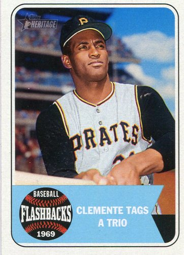 Photo of 2018 Topps Heritage Baseball Flashbacks #BFRCL Roberto Clemente