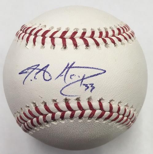 Photo of J.A. Happ Autographed Baseball