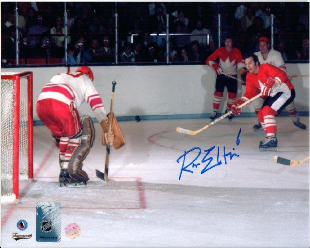 Ron Ellis Signed 8x10 Unframed HHOF Photo Team Canada Red Action