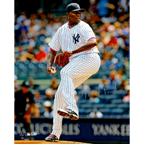 "Photo of Michael Pineda New York Yankees Autographed 16"" x 20"" Leg in Air Photograph"