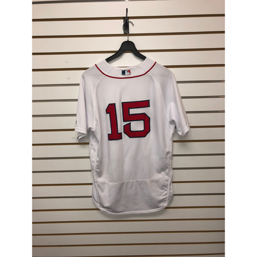 Photo of Dustin Pedroia Game-Used September 9, 2017 Home Jersey