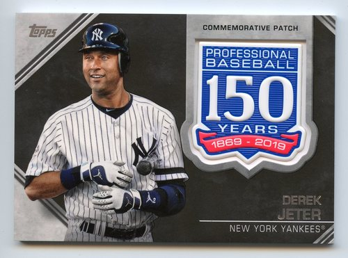 Photo of 2019 Topps 150th Anniversary Manufactured Patches #AMPDJ Derek Jeter S2