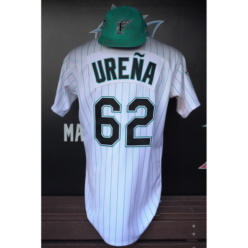brand new fee41 97ad9 Marlins Auctions | Game-Used Jersey & Cap: Jose Urena - 2018 ...