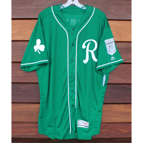 Photo of Team-Issued St. Patrick's Day Jersey: Hernandez (Size - 48)