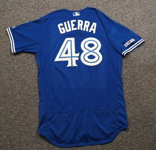 Photo of Authenticated Game Used Jersey: #48 Javy Guerra (Mar 30, 19 vs DET). Size 48