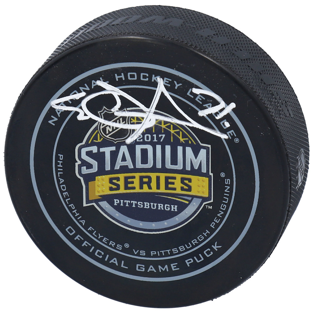 Evgeni Malkin Pittsburgh Penguins Autographed 2017 Stadium Series Official Game Puck
