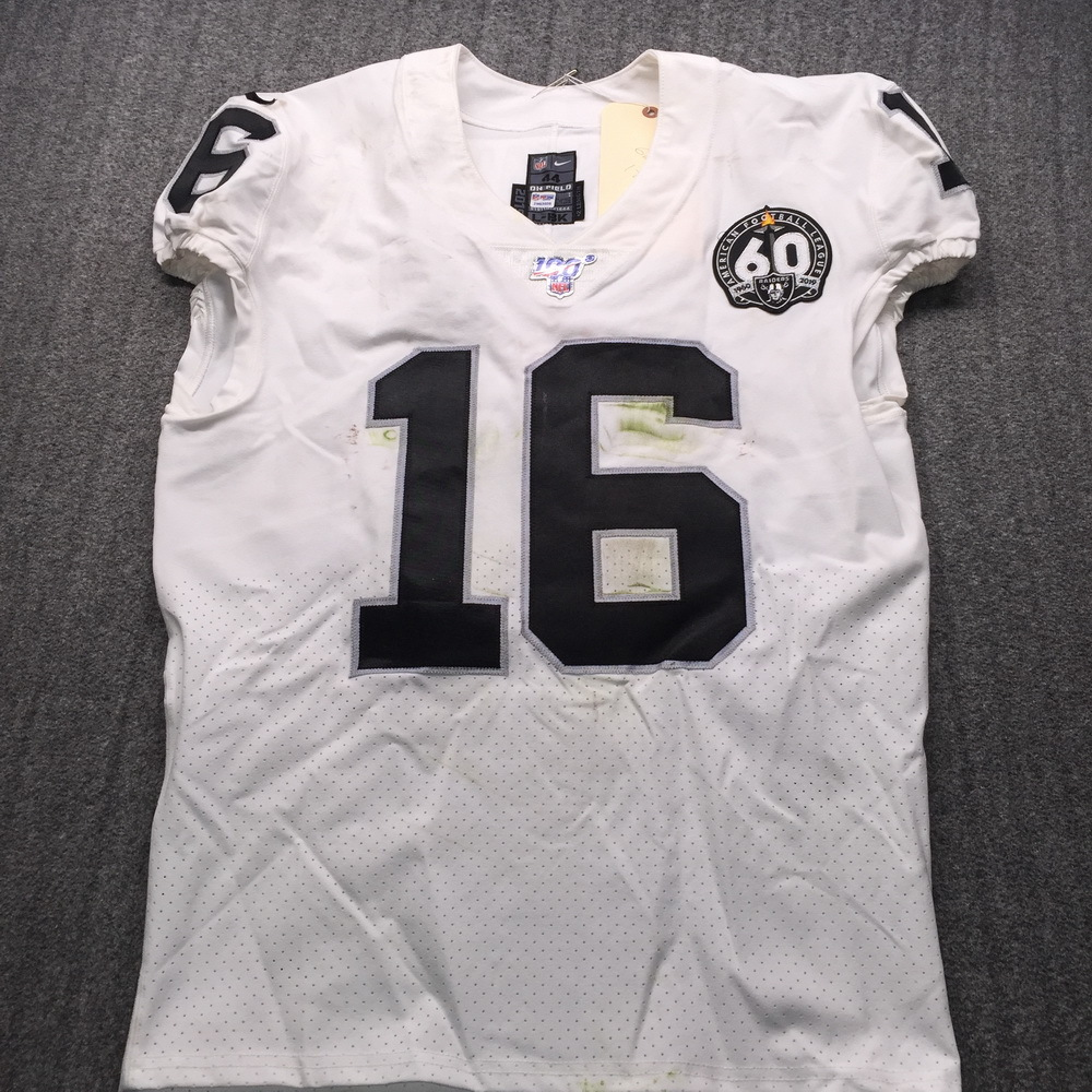 STS - Raiders Tyrell Williams Game Used Jersey (12/1/19) Size 44