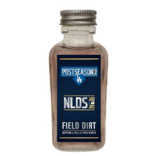 Photo of Game-Used Dirt Jar - 2020 NLDS - Los Angeles Dodgers v. San Diego Padres - Game 3 - Dodgers Clinch Spot in the NLCS