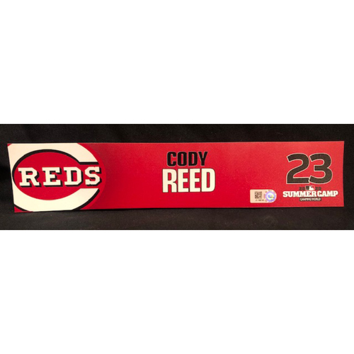Cody Reed -- 2020 Sumer Camp Locker Tag -- Team-Issued