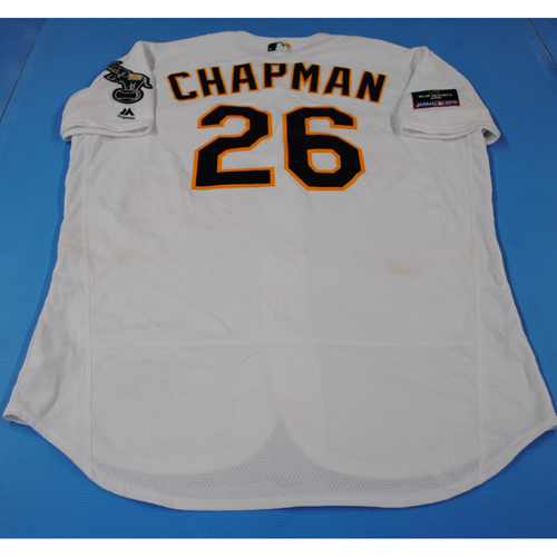 Photo of Game-Used Jersey - 2019 Japan Series - Seattle Mariners vs. Oakland Athletics - 3/21/2019 - Matt Chapman