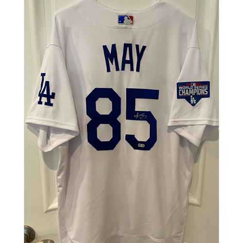 Photo of Dustin May Autographed Authentic Los Angeles Dodgers Jersey